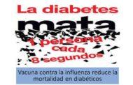 La vacuna de influenza reduce la gravedad de las complicaciones clínicas de la diabetes tipo 2