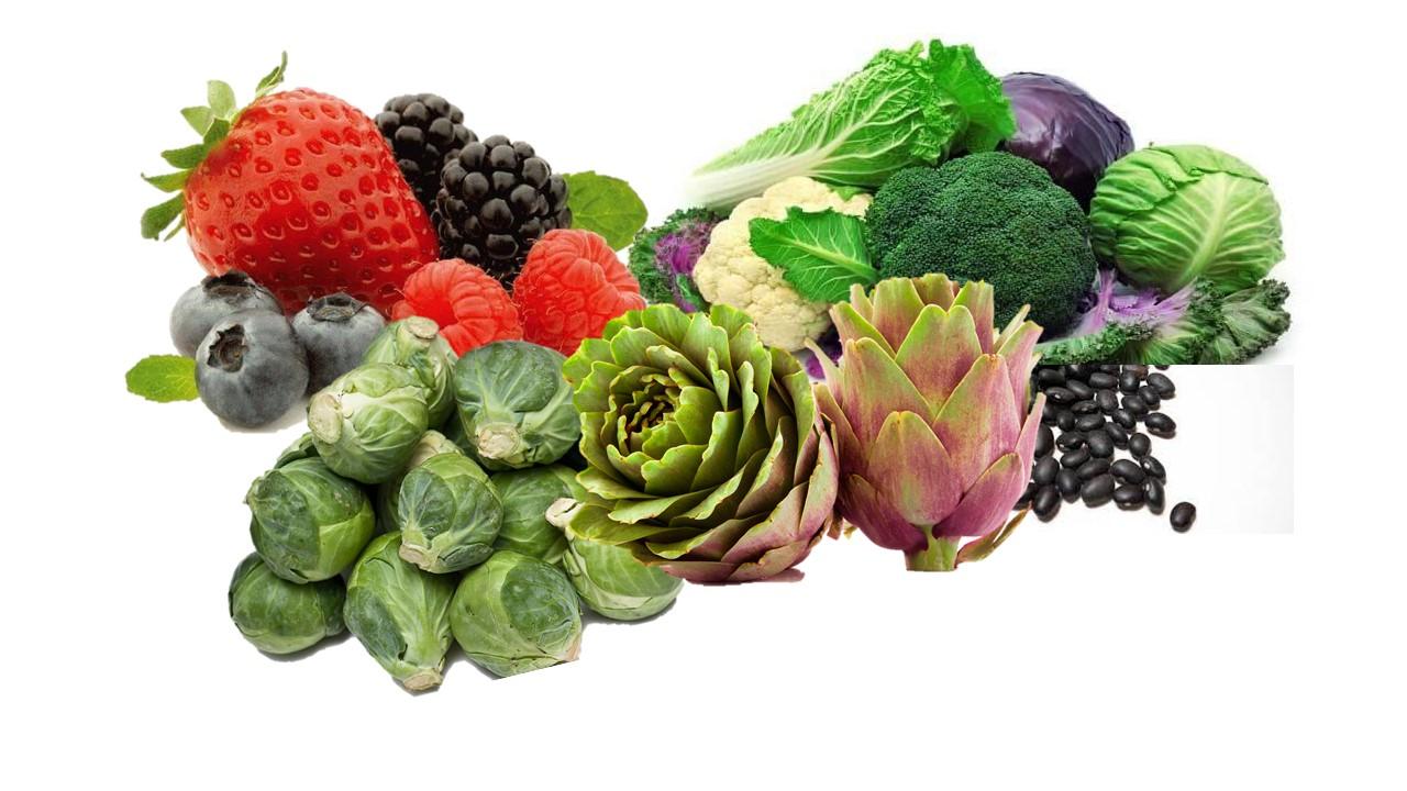 Hortalizas crucíferas vs aterosclerosis subclínica y cianidinas de bayas y otros vegetales vs cáncer y envejecimiento