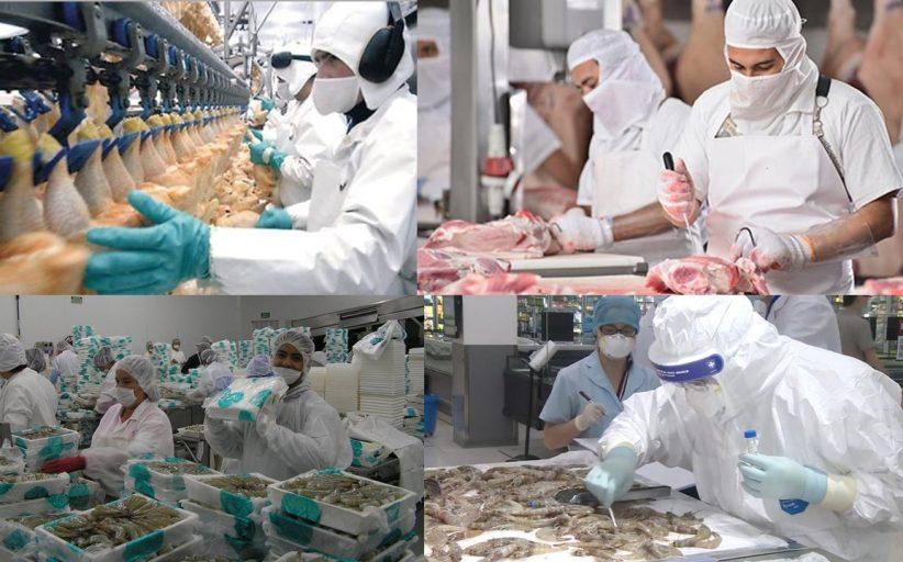 Industrias de alimentos y transmisión de COVID-19. Casos industrias cárnica y avícola