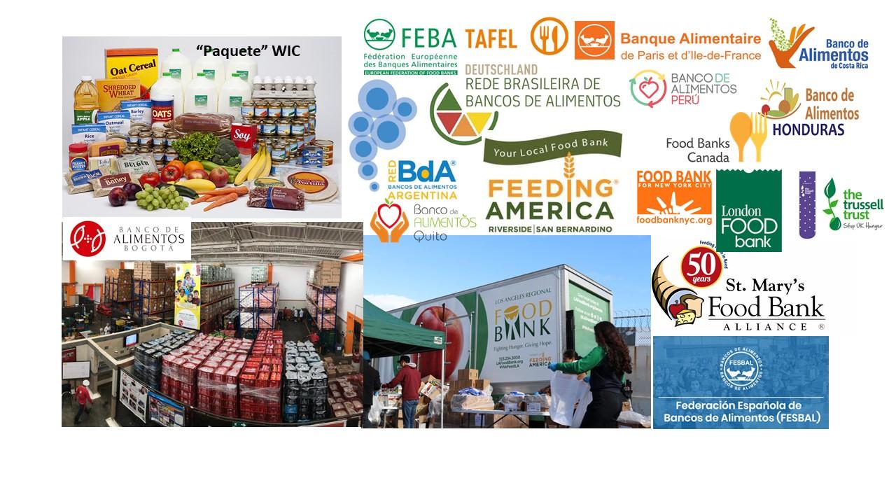 """No hay banalidad en modelos asistenciales de alimentación. Caso USA: """"Paquetes"""" de alimentos (gobierno) - bancos de alimentos (ONG)"""