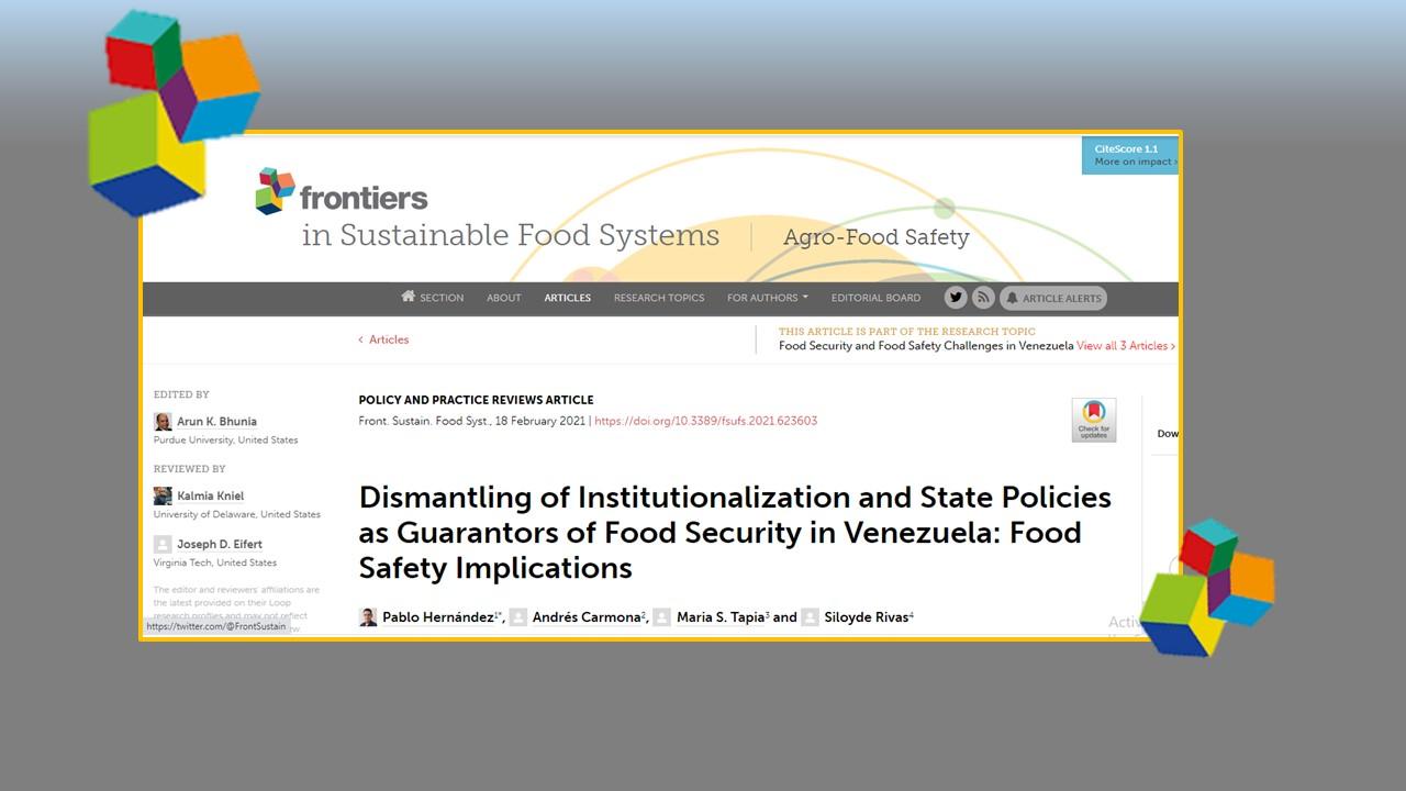 Desmantelamiento de la Institucionalización y Políticas de Estado como Garantes de la Seguridad e Inocuidad Alimentaria en Venezuela. II