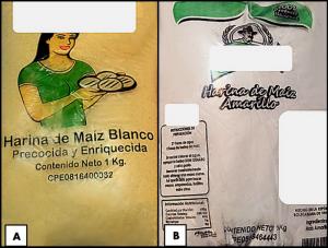 Harinas de maíz amararillo empaca en bolsa identificada como harina de maíz blanco y viceversa.