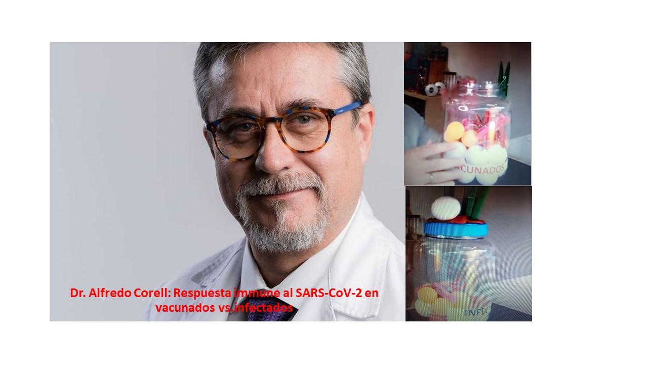 """Resumen del video: """"Especial dudas vacunas con Alfredo Corell"""", grabado el 03/08/21"""